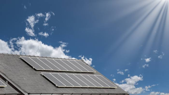 solar energy panels on a roof