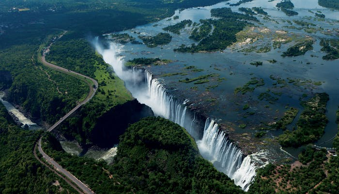 most powerful rivers Victoria Falls from above