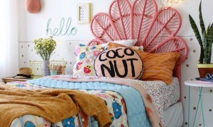 tropical teenage bedroom interior