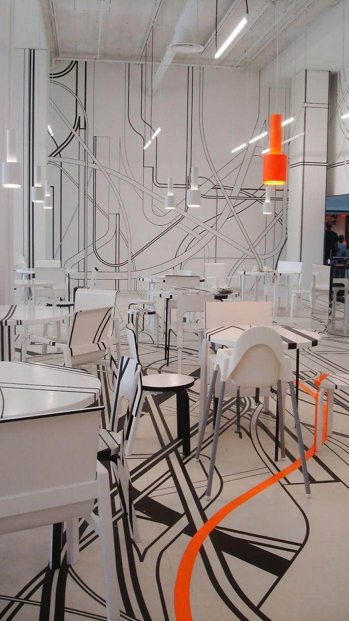 ultra modern cafe interior