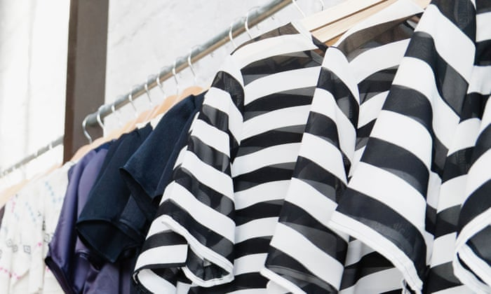 striped blouses on a hanger