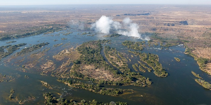 most powerful rivers zambezi river from above