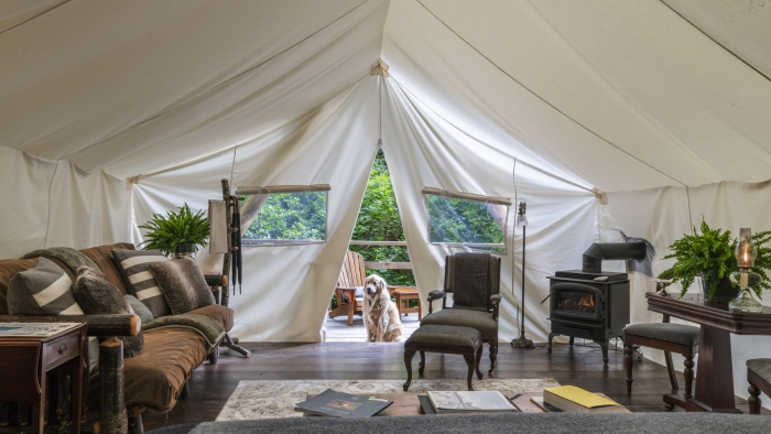 Canada Luxury hotels TeePee Interior Safari Style