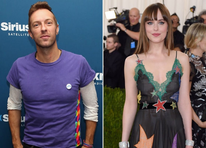Dakota Johnson and Chris Martin romance red carpet celebrities Hollywood