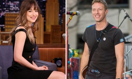 Dakota Johnson and Chris Martin together