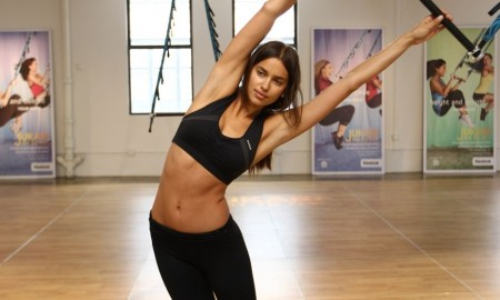 Irina Shayk training