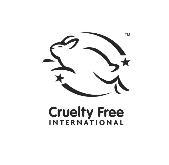 Leaping Bunny sign on food packaging cruelty free