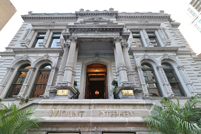 Best Luxury hotels in Canada Le Mount Stephen Montreal front main entrance