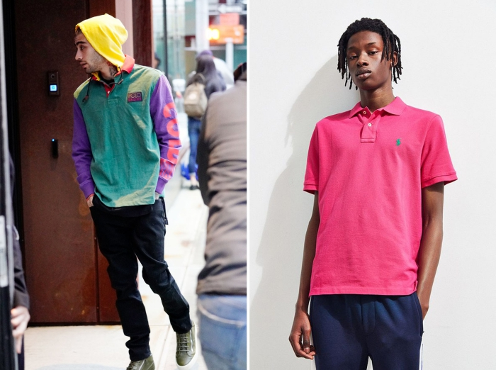 Men neon clothes from the 80s retro fashion man in pink shirt man with colorful hoodie