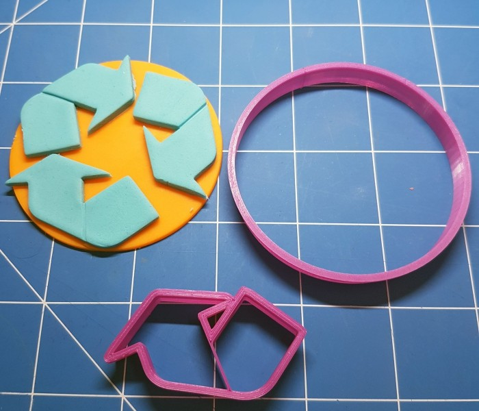 Recycling symbols on products