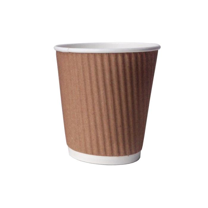 brown Styrofoam coffee cup
