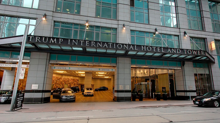 Trump International Hotel Tower Toronto Parking Entrance Luxury hotel