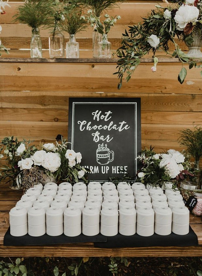 hot chocolate wedding bar