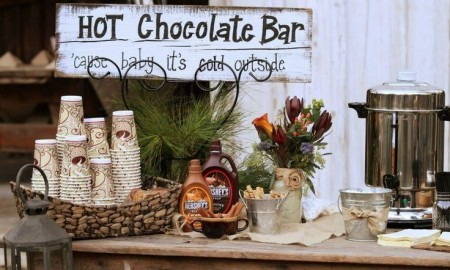 Wedding hot drinks bar ideas