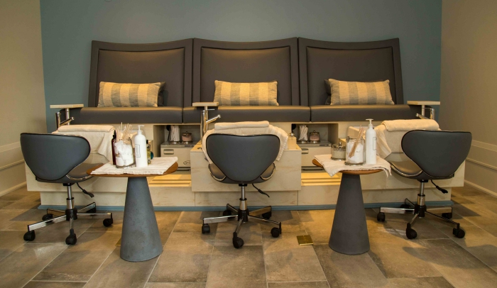 spa room luxury furniture relaxation beauty treatment area