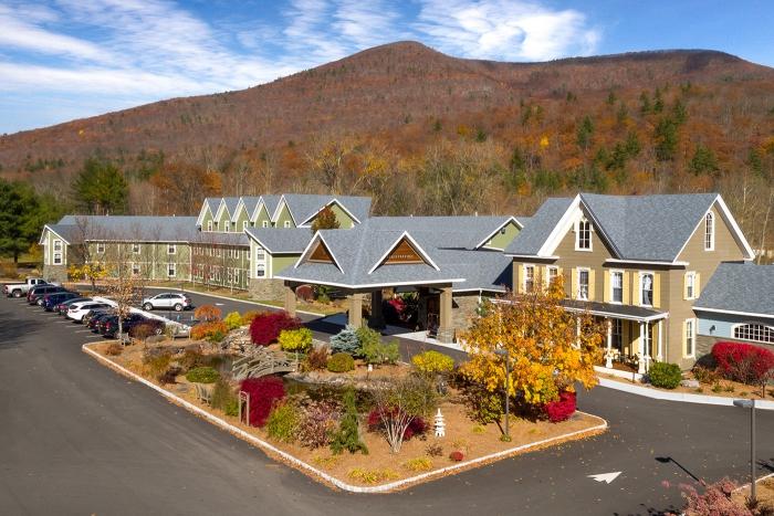 spa resort entrance mountain area