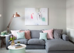 Grey walls for living room ideas