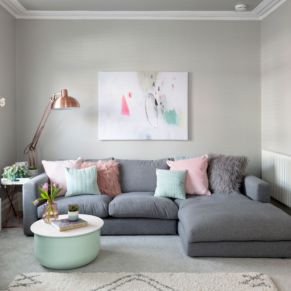 Grey walls for living room ideas
