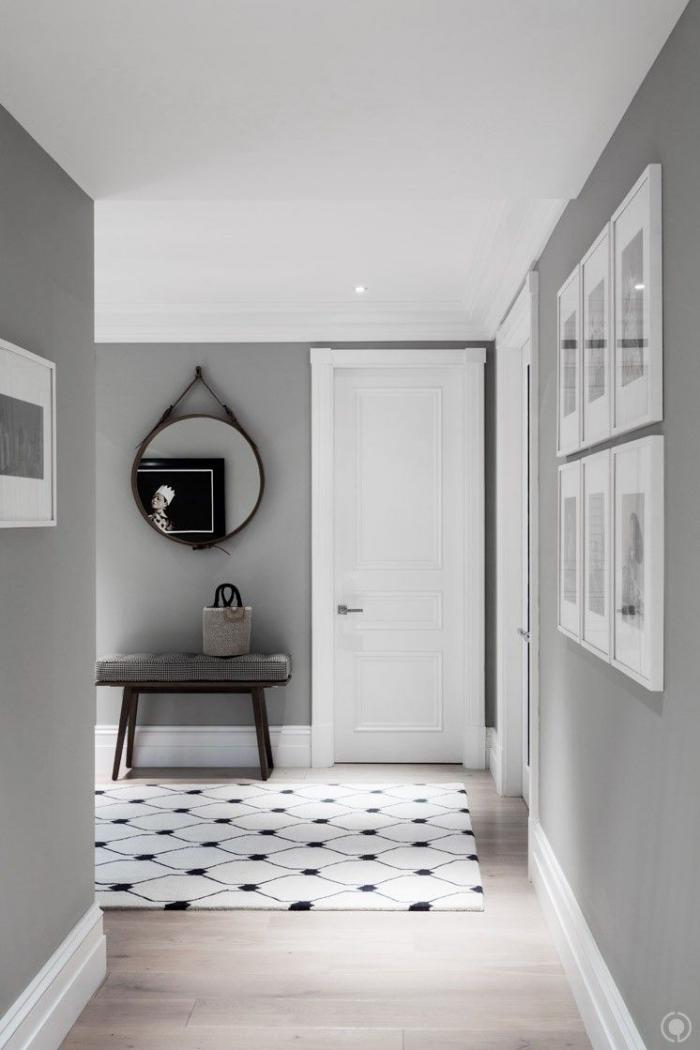 sleek modern grey and white hallway modern interior design