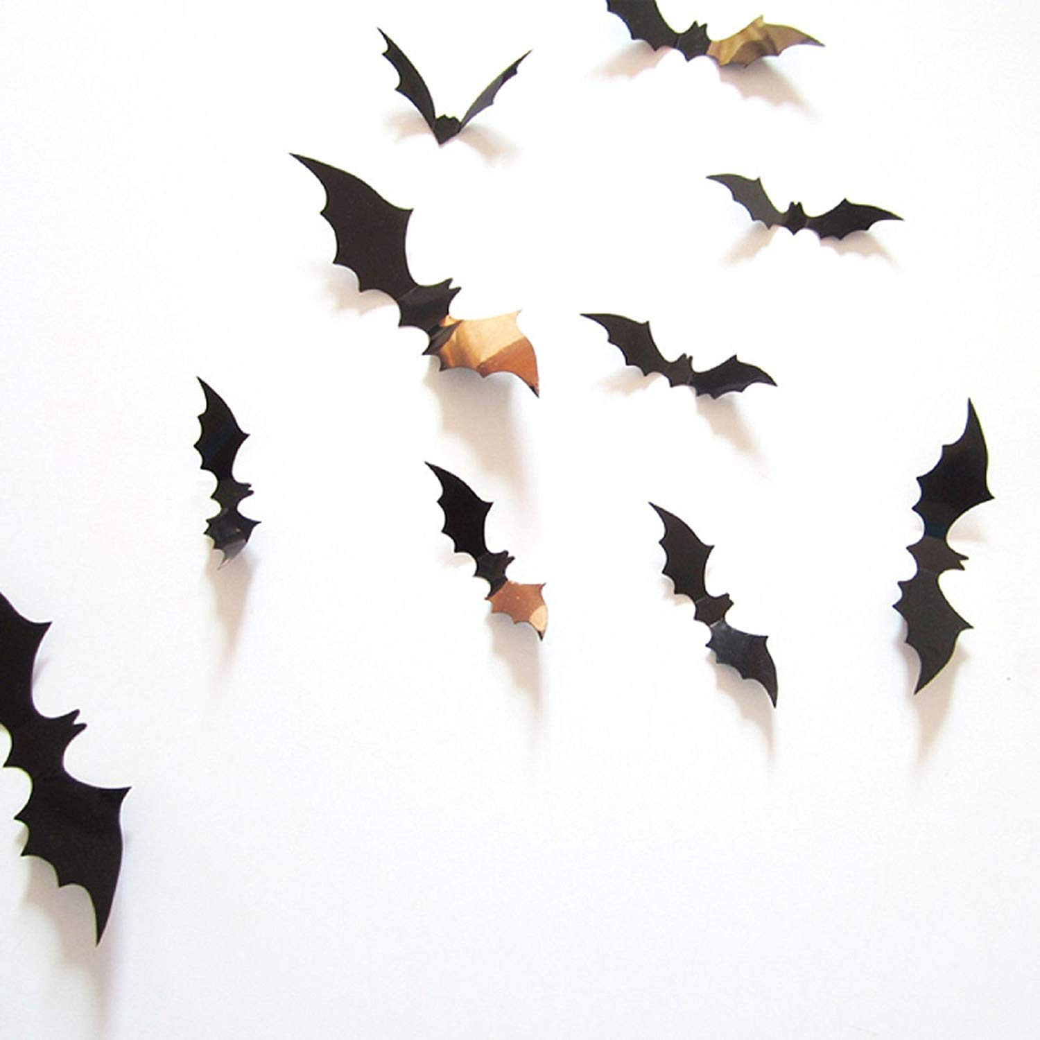3D Halloween Bat Wall Stickers on a white wall