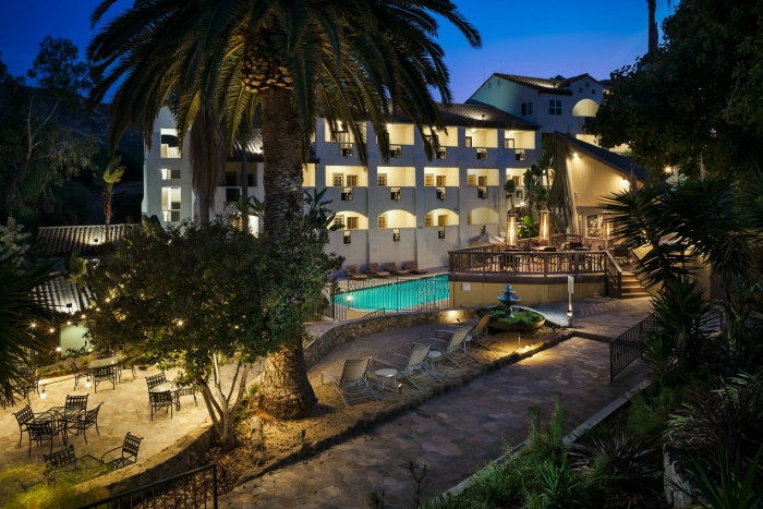 Island Spa Catalina Spa in United States garden evening view outdoor pool large palm tree