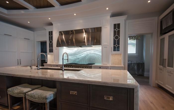 Kitchen Led Backsplash Lighting idea modern kitchen interior with metal elements