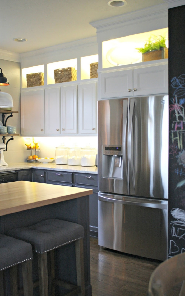 Kitchen cabinet lighting ideas top shelves cabinet lights