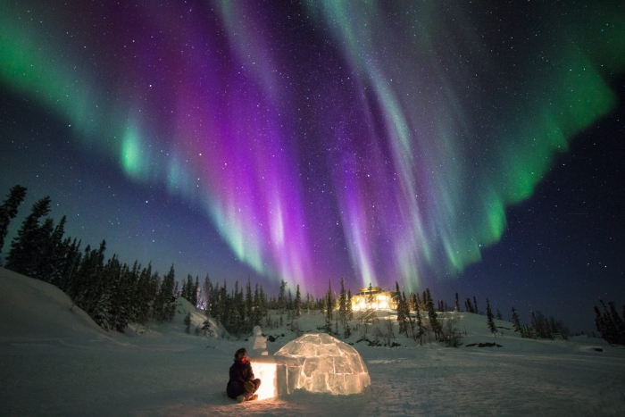 Best Places To See Northern Lights ice igloo aurora polar circle