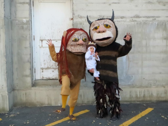 The Wild Things Halloween family costume ideas family of three