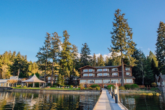 Alderbrook Resort & Spa outside lake view forest and garden area