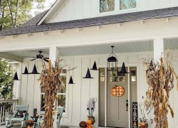 Witch Hats outdoor halloween decor ideas