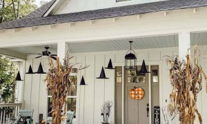Witch Hats outdoor halloween decor ideas