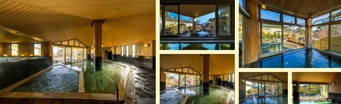Yunessun Spa Resort Japan interior and exterior pools