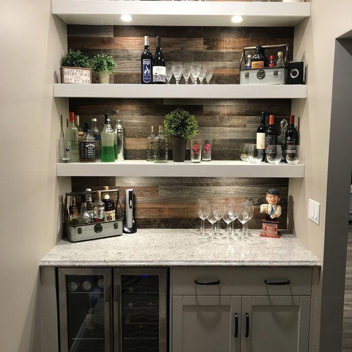 basement kitchen open shelves