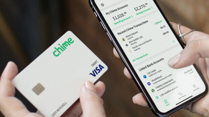 Chime Spending Account credit card and money management mobile app