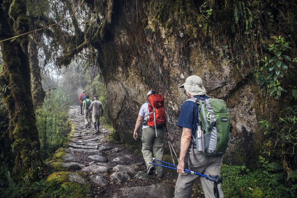 hikers on the Inca Trail to Machu Picchu