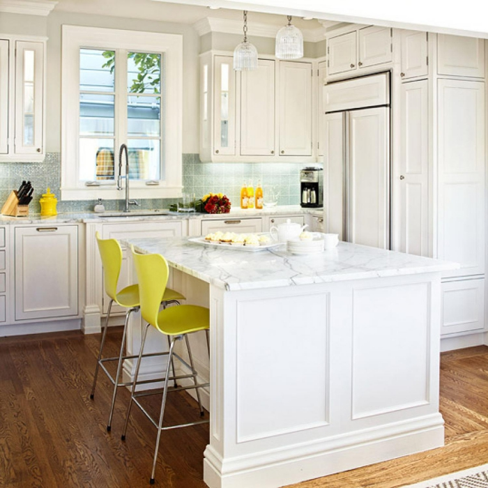 White kitchen inspirations pops of color in the kitchen