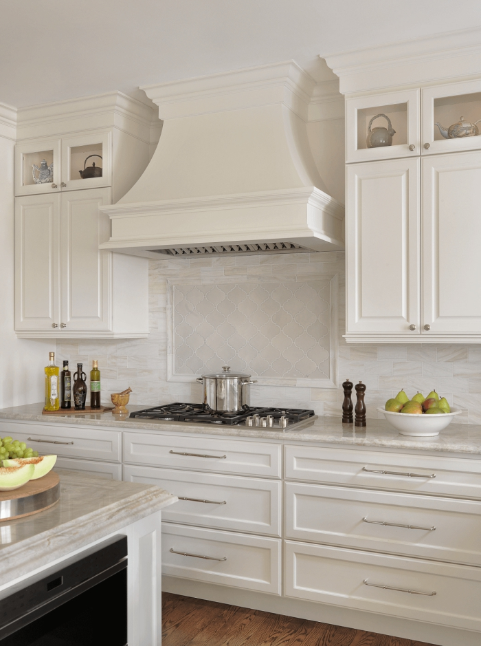 all white traditional kitchen stove