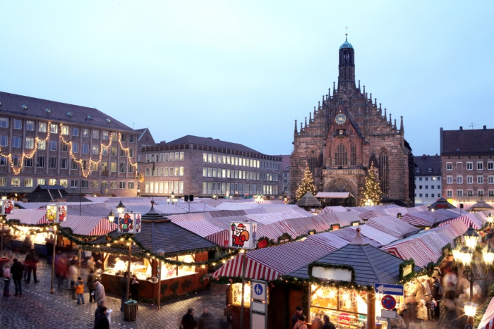 Christmas bazaars around the world local markets Nuremberg Christmas Market cathedral and square