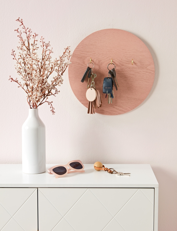Creative round wooden Key hanger housewarming gift ideas