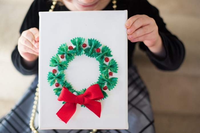 DIY Christmas cards from pasta ideas