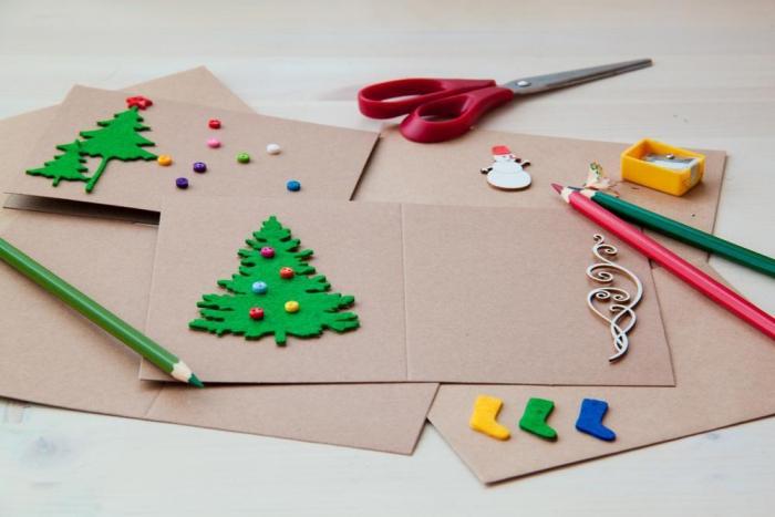 Felt Creations DIY Easy Christmas cards crafting supplies