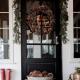 Glam Pinecones Christmas front door decoration