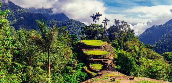 Panoramic view lost city ciudad perdida from above