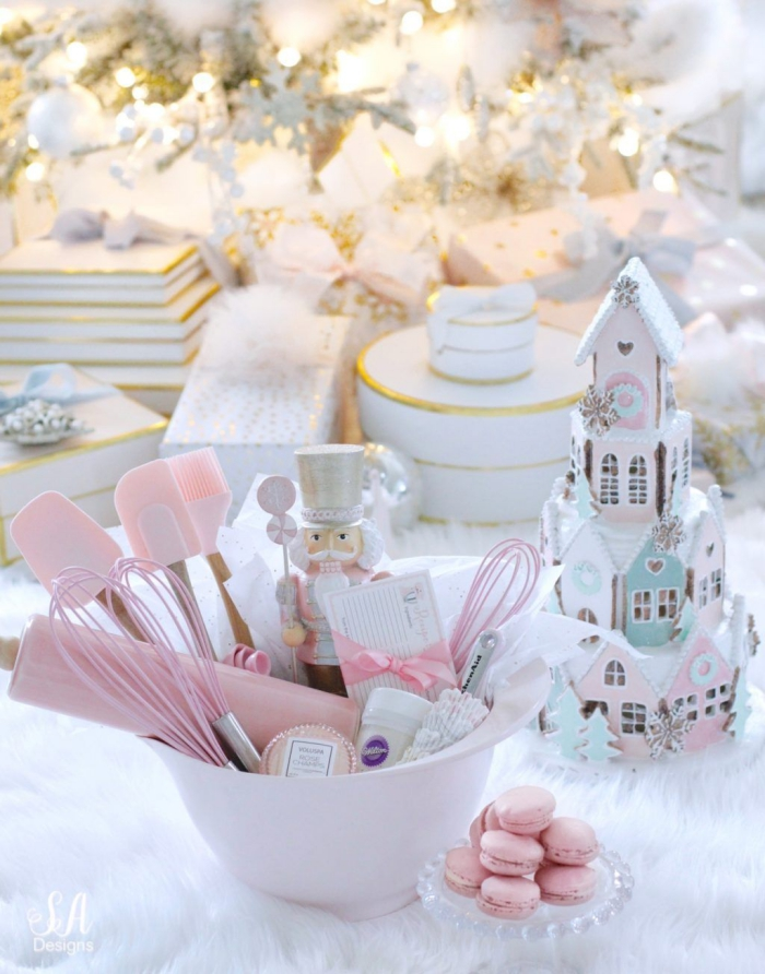 pretty pink kitchen utensils set fairytale theme the nutcracker white christmas tree