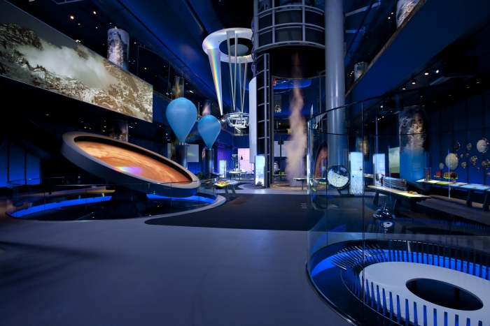 futuristic view museum space and science area