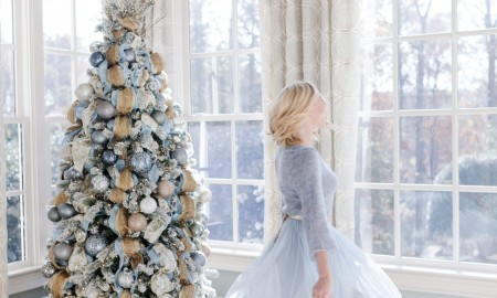 Romantic Blue Christmas decor ideas