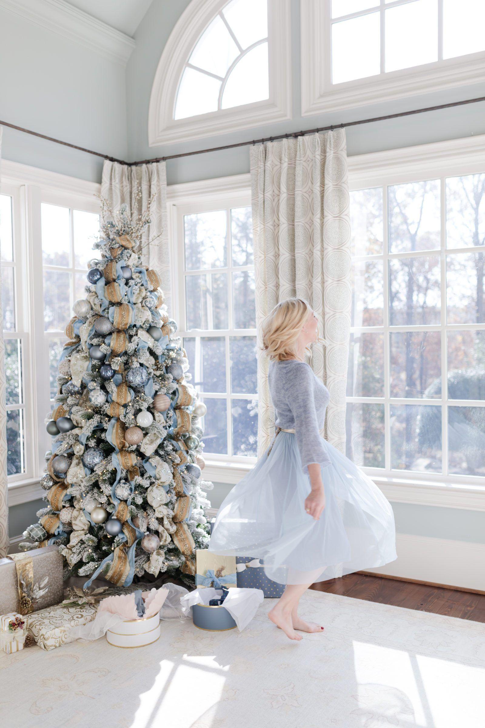 Romantic Blue Christmas decor ideas