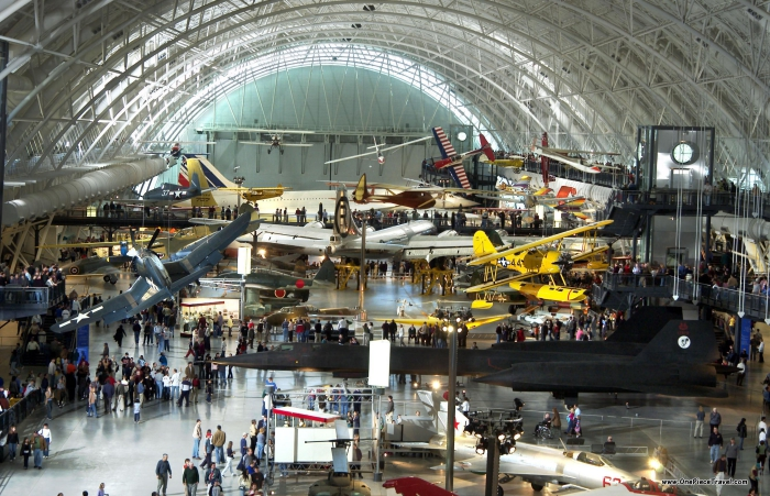 The National Air and Space museum indoor area airplanes aviation