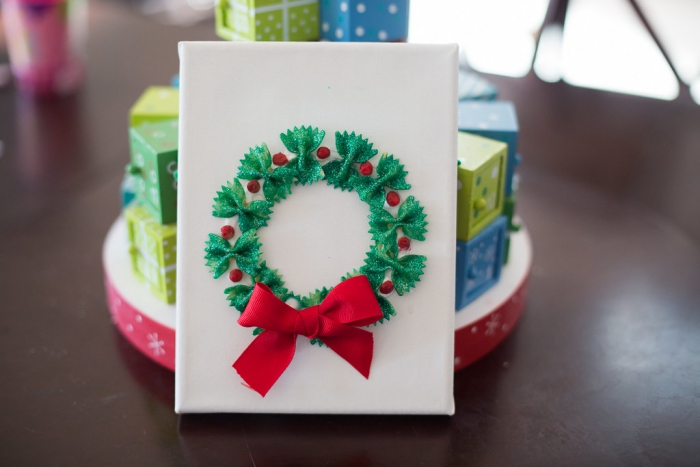 christmas cards from Pasta Bows inspiration wreath